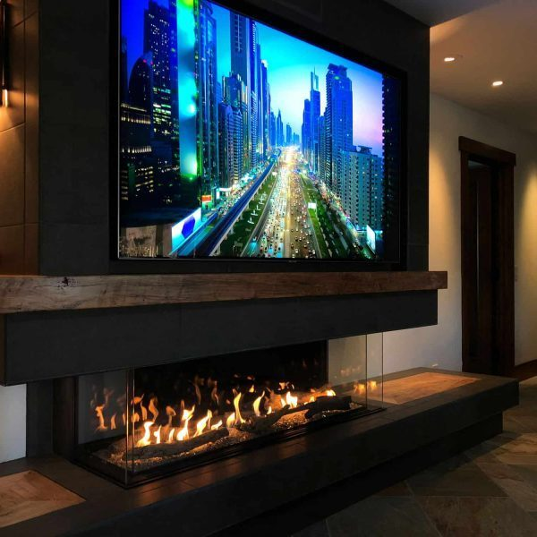 Direct Vent Gas Fireplace_Flare Double Corner